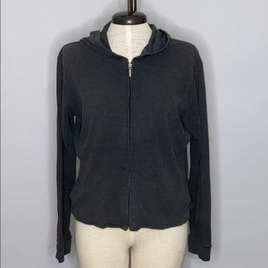 Ann Taylor Cotton Knit Zip Up Hoodie - Size M